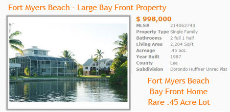 bay front homes for sale in fort myers beach