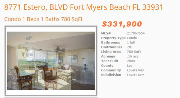 Lovers Key Condo for Sale