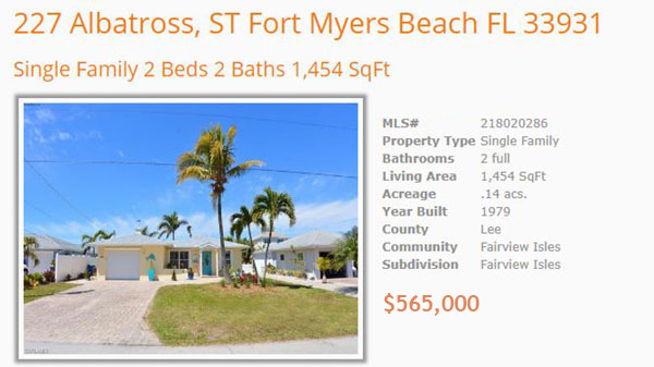 Albatross Fairview Isles - Fort Myers Beach Real Estate