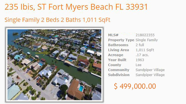 Waterfront Gulf Access Home - Ft. Myers Beach